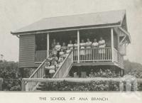 "<span class=""caption-caption"">The school at Ana Branch</span>, 1939. <br />Newspaper, collection of <span class=""caption-contributor"">John Young</span>."