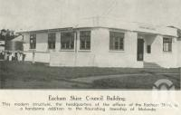 "<span class=""caption-caption"">Eacham Shire Council building</span>, 1939. <br />Newspaper, collection of <span class=""caption-contributor"">John Young</span>."