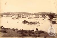 "<span class=""caption-caption"">Breakfast Creek during flood</span>, 1893. <br />Photograph, collection of <span class=""caption-contributor"">Fryer Library, UQ</span>."