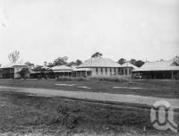 "<span class=""caption-caption"">Ingham Courthouse, Police Barracks and two leading hotels</span>, 1891. <br />Photograph, collection of <span class=""caption-contributor"">Richardson Collection, Fryer Library, UQ</span>."