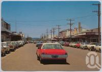 "<span class=""caption-caption"">Kariboe Street, Biloela</span>, c1970-2000. <br />Postcard, collection of <span class=""caption-contributor"">Murray Views Collection</span>."