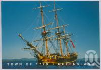 """<span class=""""caption-caption"""">The 'Bounty' in Round Hill Bay, Town of 1770</span>, c1970-2000. <br />Postcard, collection of <span class=""""caption-contributor"""">Murray Views Collection</span>."""