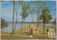 "<span class=""caption-caption"">The Fairbairn Dam, Central Highlands</span>, c1970-2000. <br />Postcard, collection of <span class=""caption-contributor"">Murray Views Collection</span>."