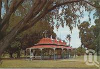 "<span class=""caption-caption"">Lissner Park showing Boer War Memorial Kiosk, Charters Towers</span>, c1970-2000. <br />Postcard, collection of <span class=""caption-contributor"">Murray Views Collection</span>."