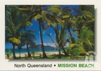 "<span class=""caption-caption"">The brilliant colour of Mission Beach, showing Dunk Island in the distance</span>, c1970-2000. <br />Postcard, collection of <span class=""caption-contributor"">Murray Views Collection</span>."