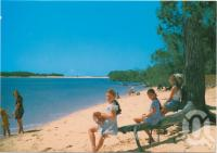 "<span class=""caption-caption"">Woodgate Beach, Q. Theodolite Creek</span>, c1970-2000. <br />Postcard, collection of <span class=""caption-contributor"">Murray Views Collection</span>."