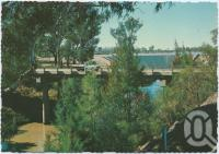"<span class=""caption-caption"">Chinchilla Weir, located eight kilometres south of Chinchilla on the Condamine River</span>, c1970-2000. <br />Postcard, collection of <span class=""caption-contributor"">Murray Views Collection</span>."