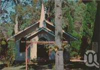 "<span class=""caption-caption"">Chapel in the Woods, Coochie Island</span>, c1970-2000. <br />Postcard, collection of <span class=""caption-contributor"">Murray Views Collection</span>."