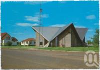 "<span class=""caption-caption"">St Albans Church of England, Cunnamulla</span>, c1970-2000. <br />Postcard, collection of <span class=""caption-contributor"">Murray Views Collection</span>."