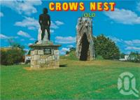 "<span class=""caption-caption"">Statue of Jimmy Crow and replica of his Gunya in Centenary Park, Crows Nest</span>, c1970-2000. <br />Postcard, collection of <span class=""caption-contributor"">Murray Views Collection</span>."