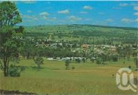 "<span class=""caption-caption"">Views of Crows Nest from Abel's Hill, the forestry can be seen in the background at right, Crows Nest</span>, c1970-2000. <br />Postcard, collection of <span class=""caption-contributor"">Murray Views Collection</span>."