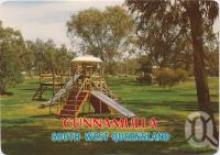 "<span class=""caption-caption"">Centenary Park, Cunnamulla</span>, c1970-2000. <br />Postcard, collection of <span class=""caption-contributor"">Murray Views Collection</span>."