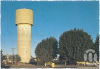 "<span class=""caption-caption"">Water Tower, Cunnamulla</span>, c1970-2000. <br />Postcard, collection of <span class=""caption-contributor"">Murray Views Collection</span>."