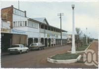 "<span class=""caption-caption"">Portion of Shopping Centre, Cunnamulla</span>, c1970-2000. <br />Postcard, collection of <span class=""caption-contributor"">Murray Views Collection</span>."