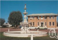 "<span class=""caption-caption"">Remembrance Fountain, Cunnamulla</span>, c1970-2000. <br />Postcard, collection of <span class=""caption-contributor"">Murray Views Collection</span>."