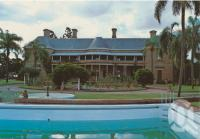 "<span class=""caption-caption"">Jimbour House near Dalby</span>, c1970-2000. <br />Postcard, collection of <span class=""caption-contributor"">Murray Views Collection</span>."