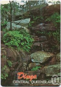 "<span class=""caption-caption"">2 Mile Falls, Dingo, Dingo's National Park, The Blackdown Tablelands</span>, c1970-2000. <br />Postcard, collection of <span class=""caption-contributor"">Murray Views Collection</span>."