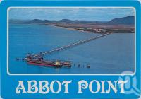 "<span class=""caption-caption"">Abbot Point, offshore ship facilities 2.8 km long, Glenden</span>, c1970-2000. <br />Postcard, collection of <span class=""caption-contributor"">Murray Views Collection</span>."