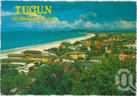 "<span class=""caption-caption"">Overlooking Tugun showing the beach stretching to Bilinga and Kirra</span>, c1970-2000. <br />Postcard, collection of <span class=""caption-contributor"">Murray Views Collection</span>."
