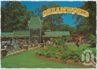 "<span class=""caption-caption"">All aboard the Cannon Ball Express departing from Central Park Station, Dreamworld, Coomera</span>, c1970-2000. <br />Postcard, collection of <span class=""caption-contributor"">Murray Views Collection</span>."