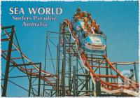 "<span class=""caption-caption"">Sea World's exciting, dipping, dodging, high speed Rollercoaster - ""The Wild Wave""</span>, c1970-2000. <br />Postcard, collection of <span class=""caption-contributor"">Murray Views Collection</span>."