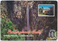 "<span class=""caption-caption"">Purlingbrook Falls, Springbrook</span>, c1970-2000. <br />Postcard, collection of <span class=""caption-contributor"">Murray Views Collection</span>."