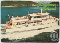 "<span class=""caption-caption"">Big Cat, Hamilton Island, In the heart of the Whitsundays, Great Barrier Reef</span>, c1970-2000. <br />Postcard, collection of <span class=""caption-contributor"">Murray Views Collection</span>."