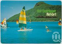 "<span class=""caption-caption"">Beautiful Catseye Beach with spectacular ""Passage Peak"" in the background, Hamilton Island</span>, c1970-2000. <br />Postcard, collection of <span class=""caption-contributor"">Murray Views Collection</span>."