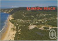 "<span class=""caption-caption"">Aerial view, Rainbow Beach</span>, c1970-2000. <br />Postcard, collection of <span class=""caption-contributor"">Murray Views Collection</span>."