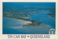 "<span class=""caption-caption"">Aerial view featuring the town and Schnapper Creek, Tin Can Bay</span>, c1970-2000. <br />Postcard, collection of <span class=""caption-contributor"">Murray Views Collection</span>."
