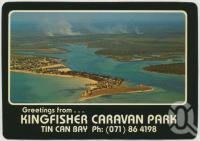 "<span class=""caption-caption"">Aerial view showing township on Norman Point and Schnapper Creek, Tin Can Bay</span>, c1970-2000. <br />Postcard, collection of <span class=""caption-contributor"">Murray Views Collection</span>."