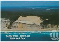 "<span class=""caption-caption"">Aerial view, Carlo Sand Blow, Cooloola National Coast, Rainbow Beach</span>, c1970-2000. <br />Postcard, collection of <span class=""caption-contributor"">Murray Views Collection</span>."