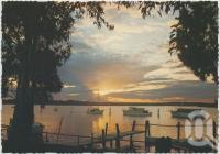 "<span class=""caption-caption"">Sunset over the safe anchorage of picturesque Schnapper Creek, Tin Can Bay</span>, c1970-2000. <br />Postcard, collection of <span class=""caption-contributor"">Murray Views Collection</span>."