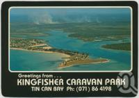 "<span class=""caption-caption"">Kingfisher Caravan Park, Tin Can Bay</span>, c1970-2000. <br />Postcard, collection of <span class=""caption-contributor"">Murray Views Collection</span>."
