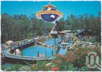 "<span class=""caption-caption"">Overall view of the Log Ride at Rocky Hollow, Dreamworld, Coomera</span>, c1970-2000. <br />Postcard, collection of <span class=""caption-contributor"">Murray Views Collection</span>."