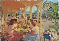 "<span class=""caption-caption"">Plaza Restaurant Terrace guests receive service with a smile, Tropical fruit saladsDreamworld, Coomera</span>, c1970-2000. <br />Postcard, collection of <span class=""caption-contributor"">Murray Views Collection</span>."