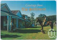 "<span class=""caption-caption"">Packhorse Lane showing the E.S.& A. Bank and the General Store, The Settlement, Springbrook</span>, c1970-2000. <br />Postcard, collection of <span class=""caption-contributor"">Murray Views Collection</span>."