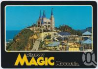 "<span class=""caption-caption"">Overlooking the Adventure Playground and the Magic Castle Licensed Restaurant, Magic Mountain</span>, c1970-2000. <br />Postcard, collection of <span class=""caption-contributor"">Murray Views Collection</span>."