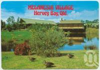 "<span class=""caption-caption"">Easy living, lakeside, Melanesia Village, Urangan, Hervey Bay</span>, c1970-2000. <br />Postcard, collection of <span class=""caption-contributor"">Murray Views Collection</span>."
