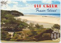 "<span class=""caption-caption"">Eli Creek with its crystal clear water, is a favourite picnic spot on Maheno Beach, Fraser Island</span>, c1970-2000. <br />Postcard, collection of <span class=""caption-contributor"">Murray Views Collection</span>."