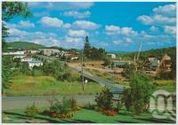 "<span class=""caption-caption"">Overlooking the township and featuring the tin processing plant and Wild River, Herberton</span>, c1970-2000. <br />Postcard, collection of <span class=""caption-contributor"">Murray Views Collection</span>."