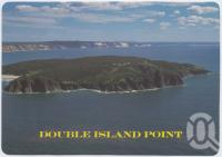 "<span class=""caption-caption"">Aerial view of Double Island Point looking towards Rainbow Beach, Cooloola Coast</span>, c1970-2000. <br />Postcard, collection of <span class=""caption-contributor"">Murray Views Collection</span>."