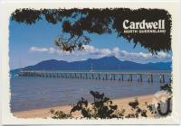 "<span class=""caption-caption"">Cardwell by the sea, looking towards Hinchinbrook Island with the jetty in the foreground</span>, c1970-2000. <br />Postcard, collection of <span class=""caption-contributor"">Murray Views Collection</span>."