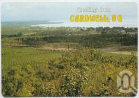 "<span class=""caption-caption"">View from Cardwell Lookout, looking north</span>, c1970-2000. <br />Postcard, collection of <span class=""caption-contributor"">Murray Views Collection</span>."