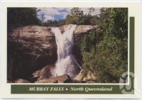 "<span class=""caption-caption"">Murray Falls, a short drive west of the Highway, halfway between Cardwell and Tully</span>, c1970-2000. <br />Postcard, collection of <span class=""caption-contributor"">Murray Views Collection</span>."