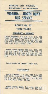 "<span class=""caption-caption"">Virginia - North Quay Bus Service Timetable</span>, 1965. <br />Souvenir, collection of <span class=""caption-contributor"">John Young</span>."