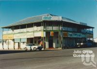 "<span class=""caption-caption"">Julia Creek Hotel</span>, 1986. <br />Postcard by <span class=""caption-publisher"">South Pacific photos</span>, collection of <span class=""caption-contributor"">Centre for the Government of Queensland</span>."