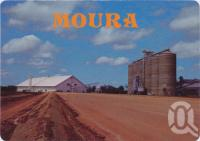 "<span class=""caption-caption"">Wheat Silos. Biggest permanent storage in Queensland, Moura</span>, c1970-2000. <br />Postcard, collection of <span class=""caption-contributor"">Murray Views Collection</span>."