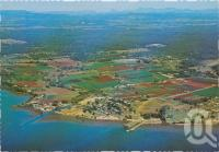 "<span class=""caption-caption"">Aerial view, Redland Bay</span>, c1970-2000. <br />Postcard, collection of <span class=""caption-contributor"">Murray Views Collection</span>."