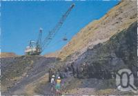 "<span class=""caption-caption"">The open cut coal mine, showing the giant Dragline removing the overburden, Moranbah</span>, c1970-2000. <br />Postcard, collection of <span class=""caption-contributor"">Murray Views Collection</span>."